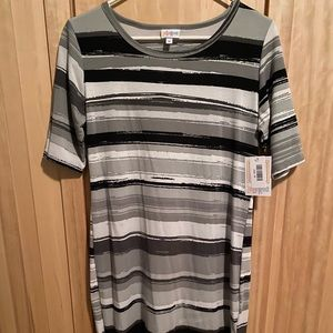 NWT Gray, black & white striped Julia